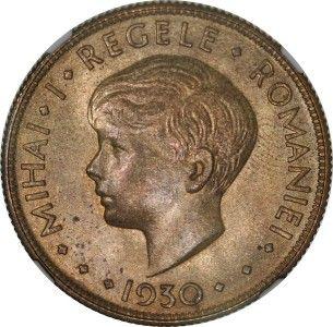 Romania 20 Lei 1930 Mihai I NGC MS63