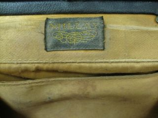 Vintage Black Leather Millay Clutch Bag Purse Handbag