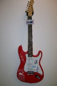 James Burton Scotty Moore Millie Kirkham Signed Autograph Guitar Elvis