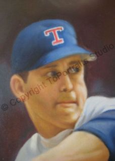 Nolan Ryan Texas Rangers MLB Poster Canvas Oil Painting