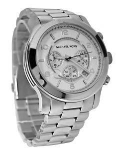 Michael Kors MK8086 Chrono Silver Dial Stainless Steel Bracelet Men