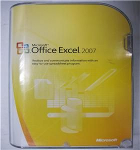 Microsof Office Excel 2007 Reail Box for Windows Full Version SKU