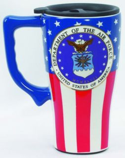 Air Force Ceramic Travel Mug Cup with Lid