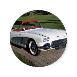 Corvette antique cars classic autos vintage cars sticker