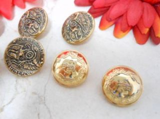 Gold Tone Seehalde Gott Walten Military Button Lot of 7 C876