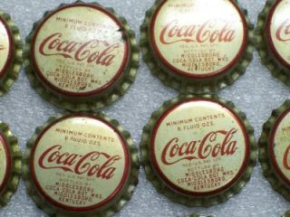 50 Vintage Coca Cola Bottle Cap Tops Cork Back Unused 6 oz Kentucky