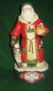 Midwest Imports Father Christmas Music Box Santa Figure