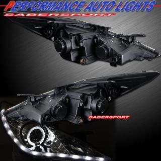 RIM PROJECTOR HEADLIGHTS w/ LED PARKING LIGHTS FOR 2011 2013 SONATA