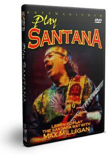 Carlos Santana Guitar Instructional DVD with Max Milligan New