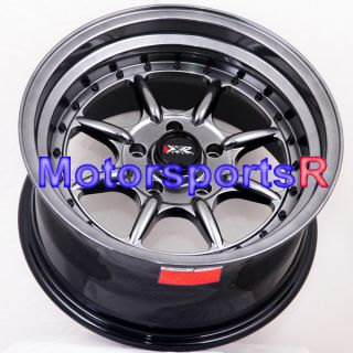 16 16x8 XXR 002 Chromium Black Rims Deep Dish 5x114 3