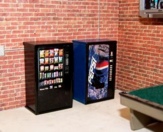 24 / G Scale Mini Soda and Snack Vending Machines for Diorama