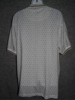 Michael Austin Golf Mens Green White Golf Tees Polo Shirt Size Large