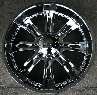 Nemesis 8 775 22 Chrome Rims Wheels Chevy 2500 Hummer 8 Lug
