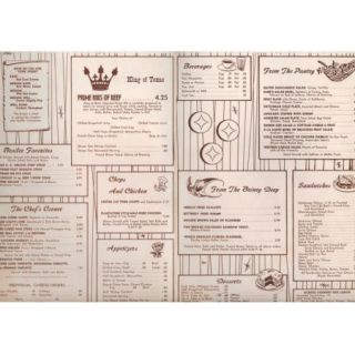 C1950s Baker Hotel Menu Mineral Wells TX Menu Brazos Club Texas