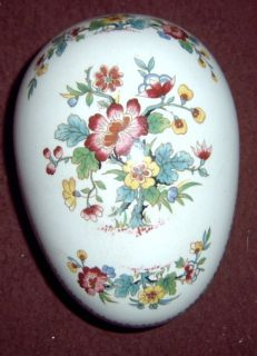 Coalport Ming Rose Large 5 Covered Egg Box