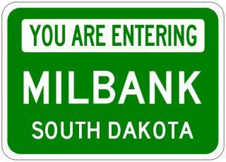 Milbank South Dakota You Are Entering Aluminum City Sign