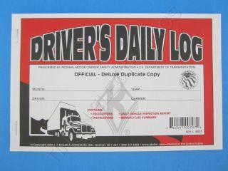 JJ Keller 601L Duplicate Drivers Daily Log Book with Carbon