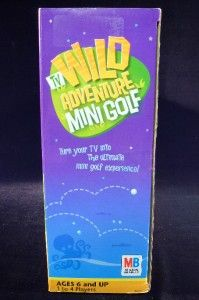 Plug Play Wild Adventure TV Mini Golf Game Milton Bradley New 2005