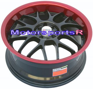 18 XXR 006 Black Red Lip Rims Wheels 02 03 TL Acura RSX Type s 04 06