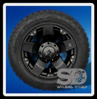 XD ROCKSTAR BLACK 5X135 W/ 305/55/20 NITTO TERRA GRAPPLER WHEELS