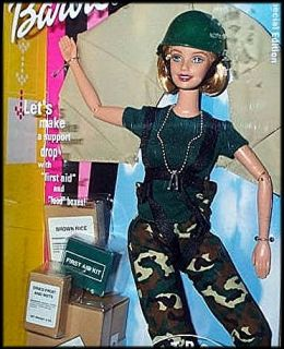 Military Barbie Airborne Paratrooper Army AAFES Doll