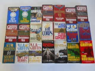 Lot of 21 W. E. B. Griffin Fiction Military Paperback Books~ Corps