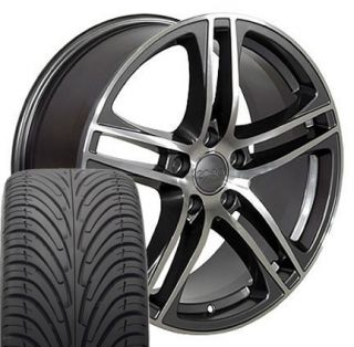 17 Gunmetal R8 Wheels Rims 235 45 17 Tires Fits Audi