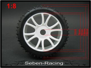 Buggy Rims Tires Wheels BRF4 1 8 Hard Pimp Style