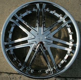 22 Chrome Rims Wheels Nissan Titan Pickup 04 Up 22 x 9 5 6H 30