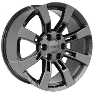 20 Black Chrome Escalade Wheels Rims Fit Cadillac GMC Yukon Tahoe