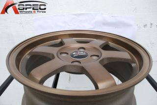 17x8 Rota Grid 5x114 3 35 Full Royal Sport Bronze Wheel Fits RSX Civic