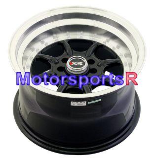 15x9 XXR 002 Black Staggered Rims Wheels 89 94 Nissan 240sx S13 Stance