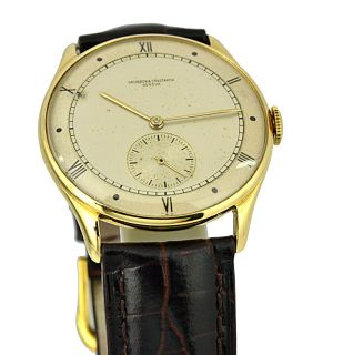 Constantin Circa 1940s 18K Solid Gold Manual Wind 35mm Watch