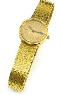 Corum Watch Ladies 18K Gold $5 Gold Coin Swiss Solid