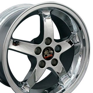 17 9 10 5 Chrome Cobra Wheels Rims Fit Mustang® 94 04