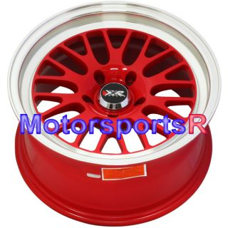XXR 531 RED Deep Dish Lip Wheels Rims 5x114.3 Stance 02 06 Acura RSX S