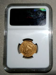 610 641 Ad Gold Solidus Byzantine Heraclius NGC Choice Extra Fine