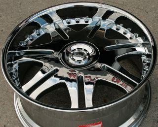 Dvinci Blade II 22 Chrome Rims Wheels Chevrolet Trailblazer