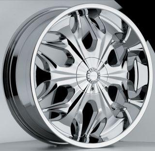 20 inch Akuza Reaper Chrome Wheels Rims 5x5 5 5x139 7