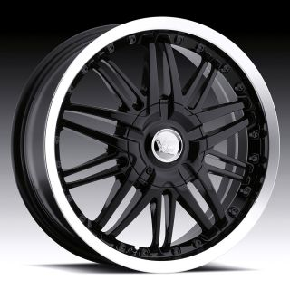16 inch 5x115 108 Black Vision Avenger Wheels Rims Chevrolet Cadillac
