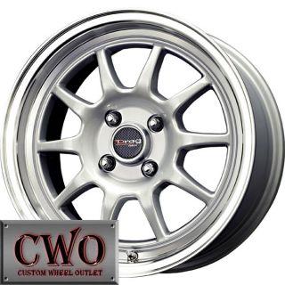 15 Silver Drag Dr 16 Wheels Rims 4x100 4 Lug Civic Mini Miata Cobalt