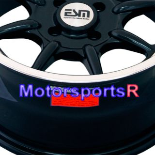 16 8 16x8 ESM 002 Black Rims Wheels Deep Dish BMW E30