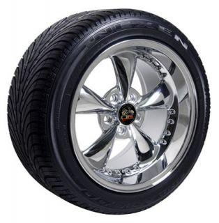 Staggered Set of 4 Bullitt   Bullet Style Replica Wheels & Tires
