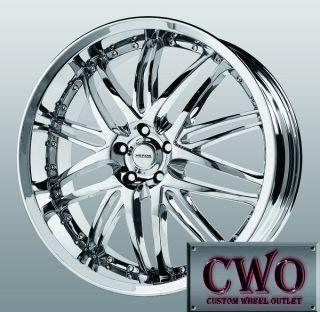 22 Chrome Verde Kaos Wheels 5x115 5 Lug Cadillac cts DTS Grand Prix Am