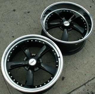 Strip 20 Black Rims Wheels Mustang Staggered 20 x 8 5 10 5H 40