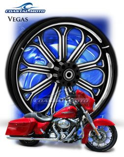 Coastal Moto Vegas DS Custom Motorcycle Wheels Harley Fatboy PM