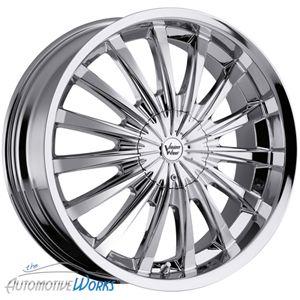 22x8 5 Vision Chrome Wheels Rims inch Monte Carlo 22