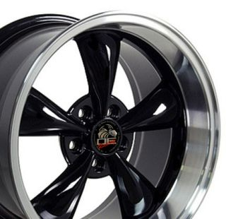 17 9 10 5 Black Bullitt Wheels Rims Fit Mustang® 94 04