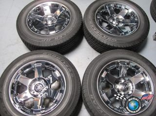 four 02 11 Dodge Ram 1500 Factory 20 Chrome Clad Wheels Tires OEM Rims