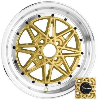 16 4x100 DR20 Gold Wheel Rim Toyota Celica Corolla Echo